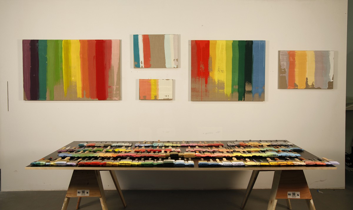 Rainbow Brushes, Installation